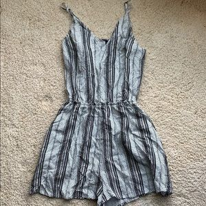 Black and white H&M romper